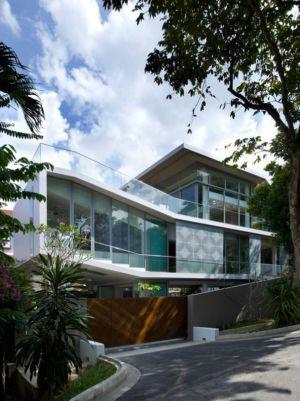 route principale accès - Home-Walls par Mink Architects - Singapour