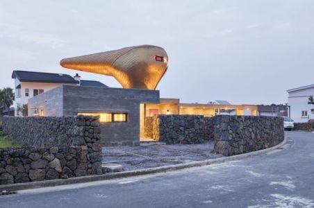 accès principal entrée - Wind-House par Moonbalsso - Jesu Island, Corée du Sud