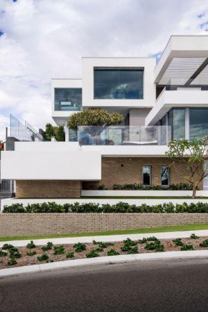 façade accès rue - uneTrigg-Residence par Hiliam Architects - Trigg WA, Australie