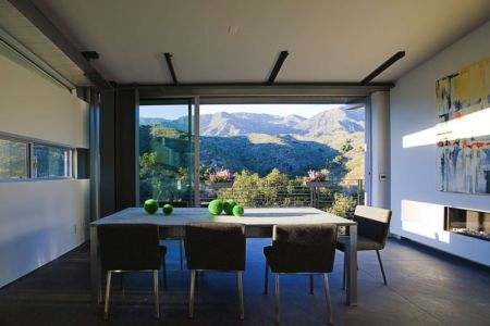 séjour - Anthrazit House par Architects Magnus - Santa Barbara, Usa