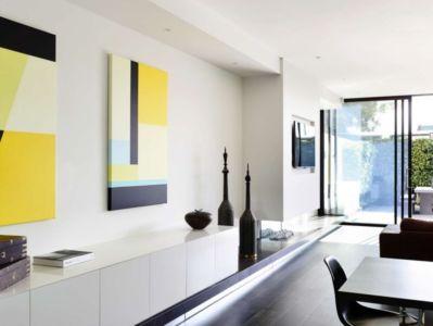 séjour - Bayside townhouses par Martin Friedrich architects - Melbourne, Australie