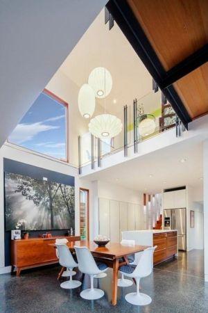 séjour - Double High House par Checkwitch Poiron Architects - Nanaimo, Canada - Concept Photography