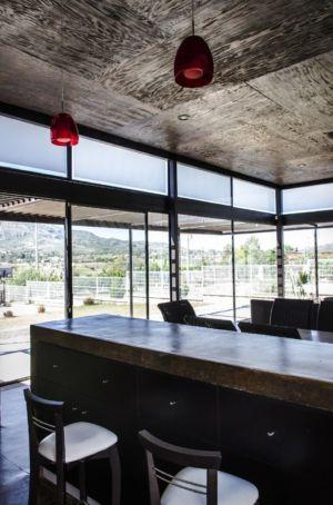 séjour - La Tomatina House par Plastik Arquitectos - Aguascalientes, Mexique
