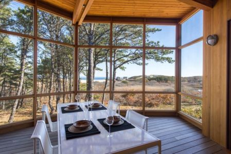 séjour - Long Dune Residence par Hammer Architects - Truro, Usa