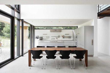 séjour - Maisons bois contemporaines par Zamel Krug Architekten - Hagen, Allemagne