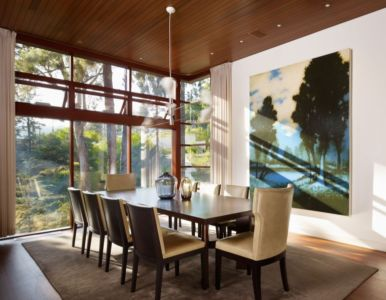 séjour - Mandeville Canyon Residence par Rockefeller Partners Architects - Los Angeles, Usa - photo Eric Staudenmaier