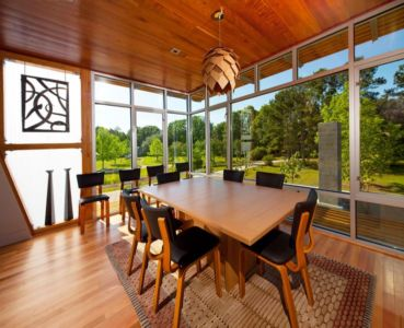 séjour - Pond-House par Holly-Smith-&-Architectes - Louisiane, USA