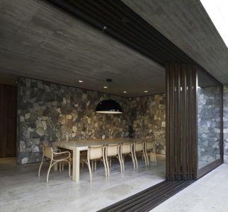 séjour - SH House par 01arq - La Dehesa, Chili
