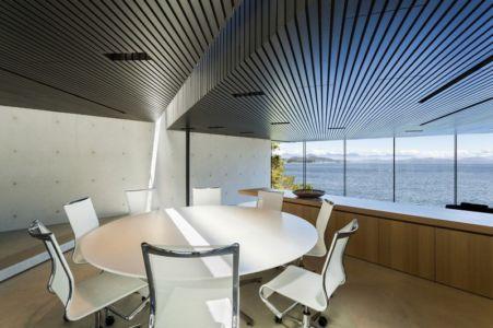 séjour - Tula House par Patkau Architects - Quadra Island, Canada