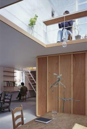 séjour & bureau - House-Yamasaki par Tato Architects-You Shimada - Hyogo,Japon