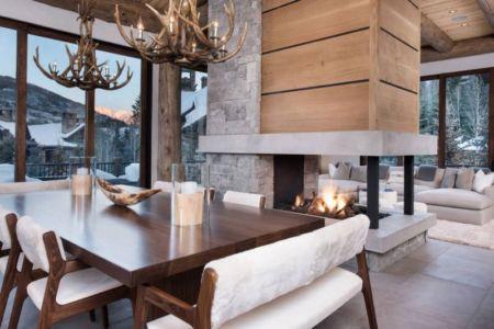 séjour & cheminée - Vail-Ski-Haus par Read Design Group - Vail, USA