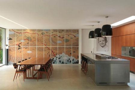 séjour & cuisine - Bulwarra - maison kate Blanchett - Sydney, Australie