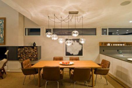 séjour cuisine - Fieldview house par Blaze Makoid Architecture - East Hampton, Usa