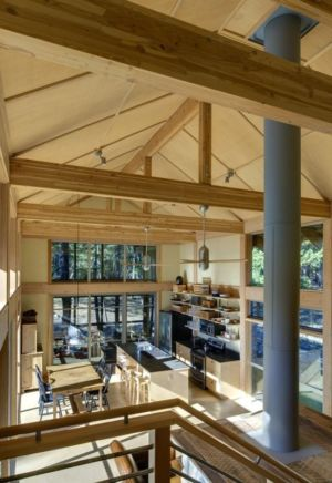 séjour & cuisine - Foster Loop par Balance Associates - Mazama,USA