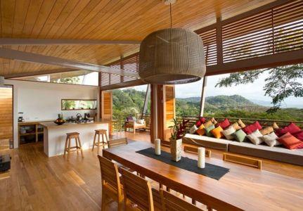 séjour & cuisine - Holiday House par Benjamin Garcia Saxe - Costa Rica