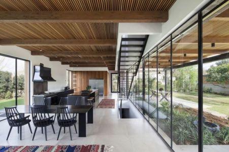 séjour & cuisine - NS-Residence par Blatman Cohen Architects - Netanya, Israël