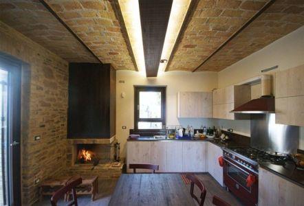 séjour & cuisine - Recupero-casa par Rocco Valentini - Chieti, Italie