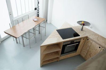 séjour & cuisine - Saganaki House par BUMParchitectes, France