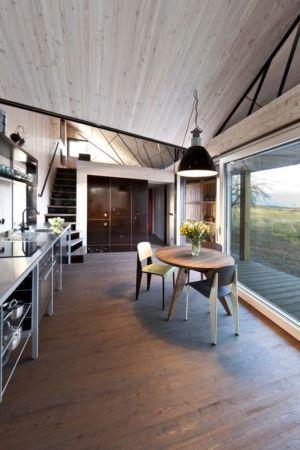 séjour & cuisine - Wooden-House par ASGK design - Lodin, République Tchèque