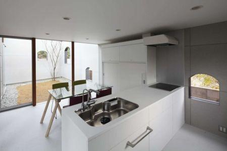 séjour & cuisine - maison bois contemporaine par Masahiro Miyake - Tokushima, Japon