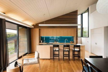 séjour & cuisine - modernist-style-house par Herriot+Melhuish Architecture - Central Otago, Nouvelle-Zelande
