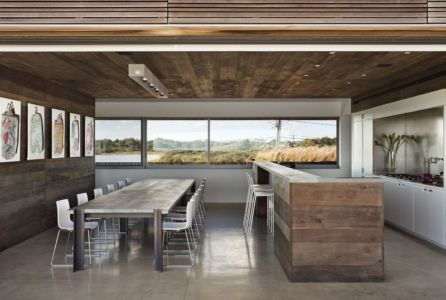 séjour & cuisine - sagaponack par Bates Masi Architects - Sagaponack, USA