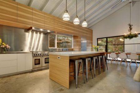 séjour & cuisine - westlake-home par Capstone Custom Homes - Westlake, USA