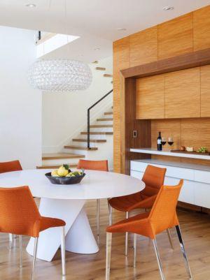 séjour & escalier - Los-Altos-House Dotter Solfjeld Architecture - Los Atlos, USA