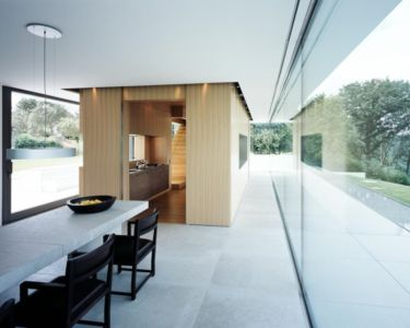 séjour et cuisine - House Philipp par Philipp Architekten - Waldenburg, Allemagne