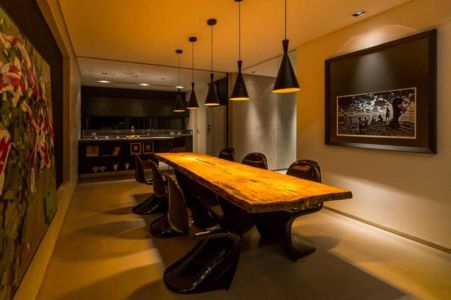 séjour et cuisine - House in Londrina by Spagnuolo Arquitetura