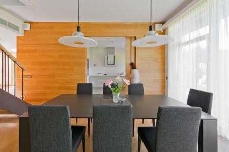 séjour et cuisine - Modern Family House par 4PLIUS Architects - Vilnius, Lituanie