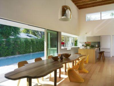 séjour et cuisine - Norwich Residence par Clive Wilkinson Architects - West Holywod, Usa