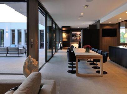 séjour et cuisine - Villa Wa par Laurent GUILLAUD - France