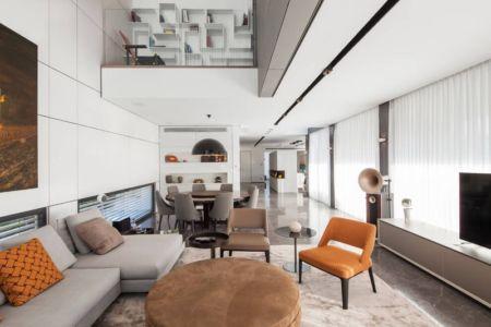 séjour et salon - Maison contemporaine béton par Ron Aviv - Tel Aviv, Israël