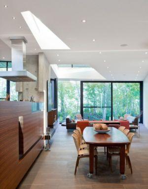 séjour et salon - Port Hope House par Teeple Architects - Ontario, Canada