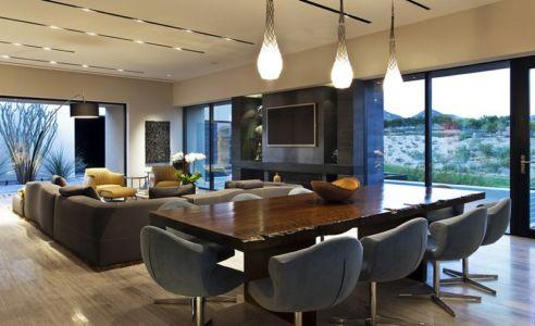 séjour et salon - Tresarca House par assemblageSTUDIO - Las Vegas, Nevada, Usa