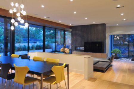 séjour et salon - Underwood House par StudioMET - Houston, Usa