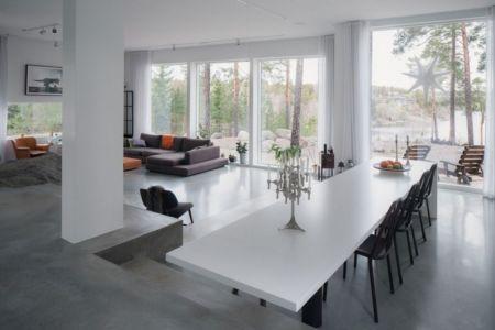 séjour et salon - maison bois contemporaine par Gabriel Minguez - Ingarö, Suède