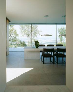 séjour et vue panoramique - House Philipp par Philipp Architekten - Waldenburg, Allemagne