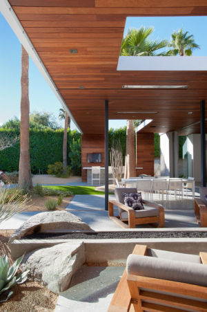 séjour extérieur - F-5 Residence par Studio AR+D Architects - Indian Wells, Usa