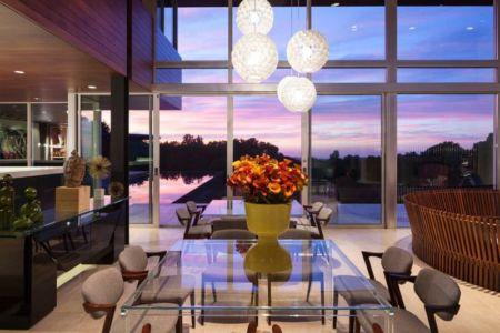 séjour & grande baie vitrée - Vidalakis-Residence par Swatt Miers Architects - Californie, USA