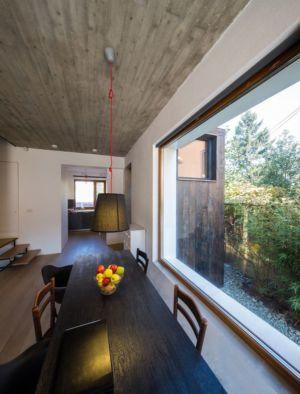 séjour & grande ouverture vitrée - LAMA-House par LAMA Arhitectura - Bucarest, Roumanie