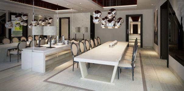 séjour - luxueuse villa par Ark Architects - San Roque, Espagne