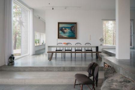 séjour - maison bois contemporaine par Gabriel Minguez - Ingarö, Suède