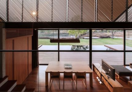 séjour & salon - KA-House par IDIN Architects - Pak Chong, Thaïlande
