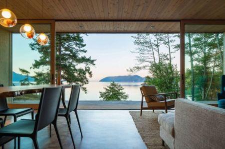 séjour & salon - Woodsy-Retreat par Heliotrope Architects - Washington, USA