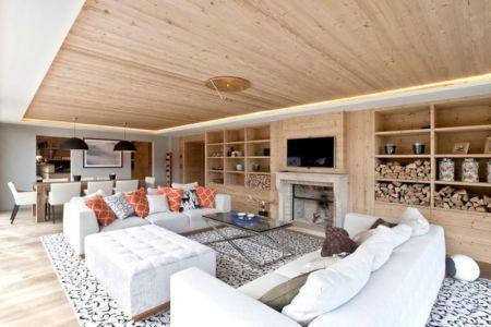 séjour-salon & cheminée - Rougemont-Residences Plusdesign - Rougemont, Suisse
