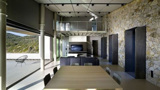 séjour & salon - résidence exclusive par Z-Level - île Kios, Grèce