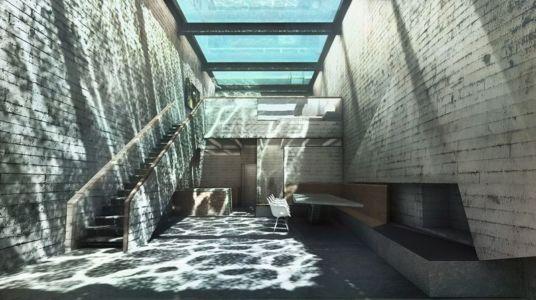 séjour & table en pierre - Casa Brutale par OPA_Open Plateform - Grèce