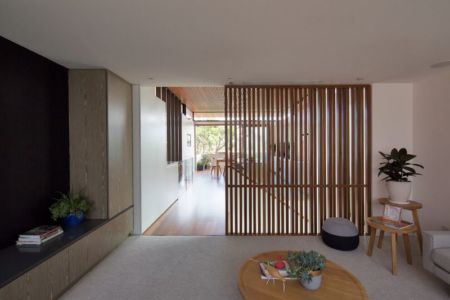 séparation coulissante bois - Queenscliff-Design par Watershed Design - Sydney, Australie